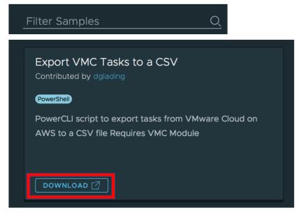 VMware Cloud on AWS Code Samples – VM Dave